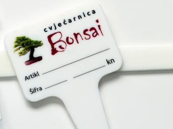 Plastični pokazivači za cvjećarnice