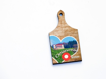 Drveni magnet Omanovac