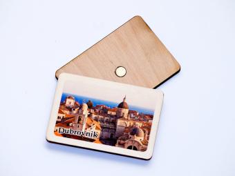 Drveni magnet s motivom Dubrovnika