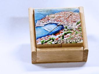 Drvena slagalica – pravokutna Dubrovnik