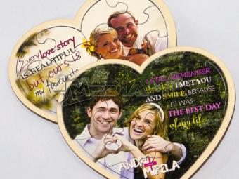 Drvene puzzle oblika srca – zaljubljeni